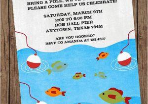 Fishing First Birthday Invitations Gone Fishing Birthday Invitations 1 00 Each with Envelope
