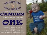 Fishing First Birthday Invitations Gone Fishing First Birthday Invitation Reeling In the Big