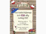 Fishing themed Birthday Party Invitations Fishing Invitation Gone Fishing Birthday Party Invitation