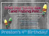 Fishing themed Birthday Party Invitations Fishing theme Birthday Party Invitation by Simplysocialdesigns