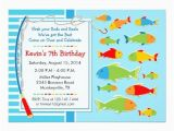 Fishing themed Birthday Party Invitations Fishing theme Birthday Party Invitation Party