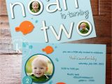 Fishing themed Birthday Party Invitations More Than 9 to 5 My Life as Quot Mom Quot Noah 39 S Fish themed