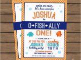 Fishing themed Birthday Party Invitations O Fish Ally One Birthday Party Invitation Fish Birthday