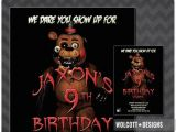 Five Nights at Freddy S Birthday Invitations Five Nights at Freddy 39 S Invitation Fazzbear Invitation