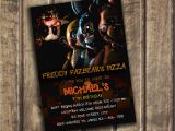 Five Nights at Freddy S Birthday Invitations Five Nights at Freddy 39 S Invitation Five Nights by