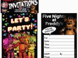 Five Nights at Freddy S Birthday Invitations Five Nights at Freddy 39 S Invitations 8 Birthdayexpress Com
