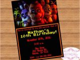 Five Nights at Freddy S Birthday Invitations Fnaf Five Nights at Freddy 39 S Birthday Invitation Digital