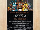 Five Nights at Freddy S Birthday Invitations Printable Five Nights at Freddy 39 S Invitation Five Nights