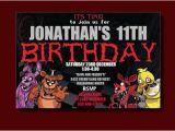 Five Nights at Freddy S Printable Birthday Invitations Five Nights at Freddy 39 S Birthday Invitation by