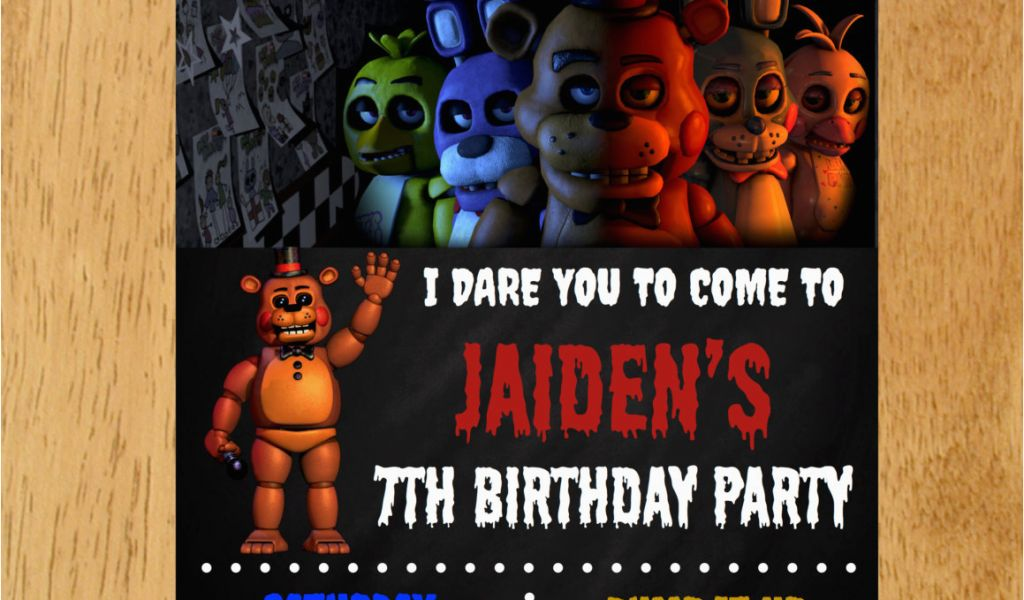 Download By SizeHandphone Tablet Desktop Original Size Back To Five Nights At Freddy S Printable Birthday Invitations