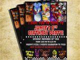 Five Nights at Freddy S Printable Birthday Invitations Five Nights at Freddy 39 S Invitation Fnaf Invitation
