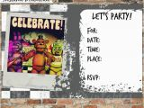 Five Nights at Freddy S Printable Birthday Invitations Five Nights at Freddy 39 S Invitations and Thank You Cards