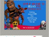 Five Nights at Freddy S Printable Birthday Invitations Five Nights at Freddy 39 S Party Personalized Party