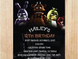 Five Nights at Freddy S Printable Birthday Invitations Printable Five Nights at Freddy 39 S Invitation Five Nights