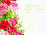 Flower Cards for Birthdays Happy Birthday Flowers Greeting Cards 02 Free Download