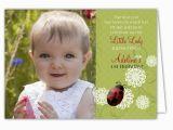 Folded Birthday Invitations Ladybug Flowers Photo Folded Birthday Invitations Paperstyle