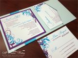 Folded Birthday Invitations Quinceanera Invites Page 2 A Vibrant Wedding