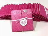 Folded Birthday Invitations Swatches Hues Handmade with Tlc Princess theme Gate