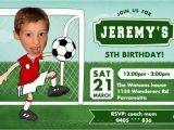 Football Birthday Cards to Print 8 Best Images Of soccer Birthday Invitations Printable