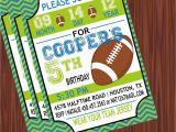 Football Birthday Cards to Print Football Birthday Invitation Templates