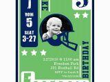 Football Birthday Cards to Print Football Card Birthday Party Printable Invitation