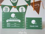 Football Birthday Cards to Print Football Invitation Printed Invitation Printable