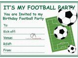 Football Birthday Cards to Print Football Invites Kids Children 39 S Boys Football Birthday