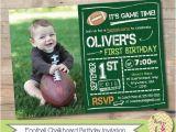 Football First Birthday Invitations 1000 Ideas About Football First Birthday On Pinterest
