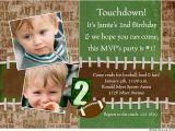 Football First Birthday Invitations Football Birthday Invitations Ideas Bagvania Free