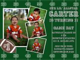 Football First Birthday Invitations Free Printable Football Birthday Invitations