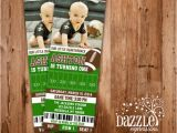 Football First Birthday Invitations Printable First Birthday Photo Invitations by Dazzle