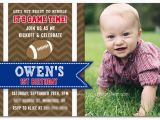 Football First Birthday Invitations Your Baby Won 39 T Remember This Party First Birthday