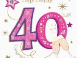 Fortieth Birthday Cards Happy 40th Birthday Greeting Card by Talking Pictures Cards