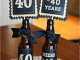 Fortieth Birthday Ideas for Him 40th Birthday Decorations 40th Party Centerpiece Table