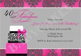 Fortieth Birthday Invitations 40th Birthday Invitation Wording Template Best Template