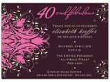 Fortieth Birthday Invitations andromeda Fabulous Pink 40th Birthday Invitations Paperstyle