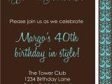 Fortieth Birthday Invitations Invitation 40th Birthday Party Men