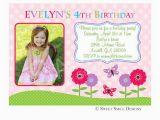 Fourth Birthday Invitation Wording 4th Birthday Invitation Wording A Birthday Cake