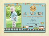 Fourth Birthday Invitation Wording Train Birthday Invitation Boys 1st 2nd 3rd 4th Birthday