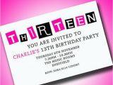 Free 13th Birthday Invitations Personalised Boys Girls Teenager 13th Birthday Party