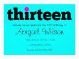 Free 13th Birthday Invitations Thirteen 13th Birthday Party Invitation
