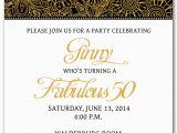 Free 50th Birthday Invitation Templates Template for 50th Birthday Invitations Free Printable