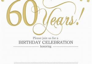 Free 60th Birthday Invitation Templates Free Printable 60th Birthday Invitation Templates Free