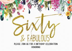 Free 60th Birthday Invitation Templates Free Printable 60th Birthday Invitation Templates Golden