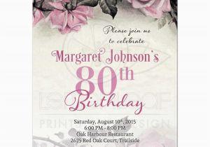 Free 80th Birthday Invitations Templates Party