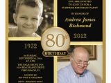 Free 80th Birthday Invitations Templates Printable Invitation