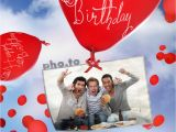 Free Birthday Card Maker with Photo Birthday Card with Flying Balloons Printable Photo Template