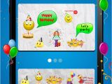 Free Birthday Cards App for android Animated 3d Birthday Emoji Wishes Cards Emoticons App