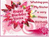 Free Birthday Cards for A Sister Birthday Wishes for Sister Pictures Images Graphics for
