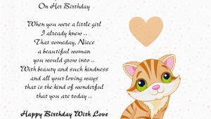 Free Birthday Cards for My Niece Birthday Card for Niece Quotes Quotesgram